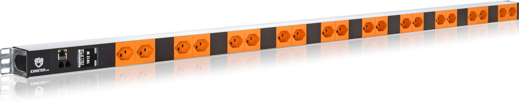 E3METER® Intelligent Power Strip 20x T23 orange